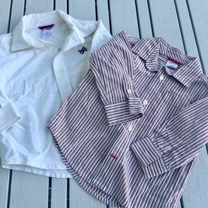 2 Gymboree button down shirts 12-18 months
